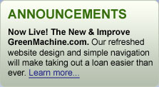 green machine loans
